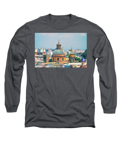 Long Sleeve T-Shirt featuring the photograph Rooftops Of Seville - 1 by Mary Machare