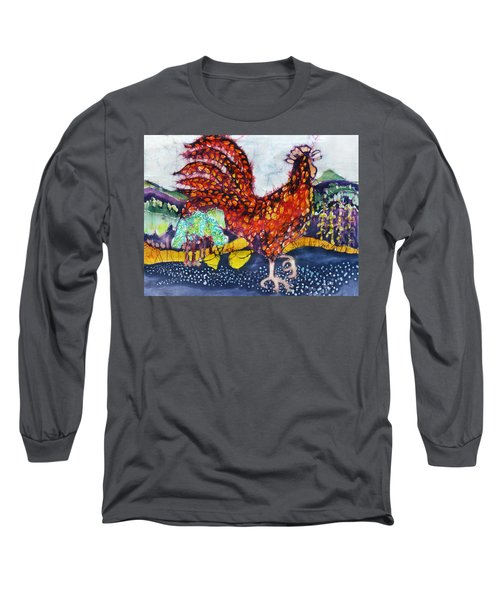 Rooster In The Morning Long Sleeve T-Shirt