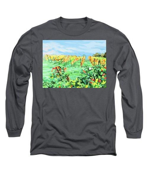 Roosthole Vineyard Long Sleeve T-Shirt by Plum Ovelgonne