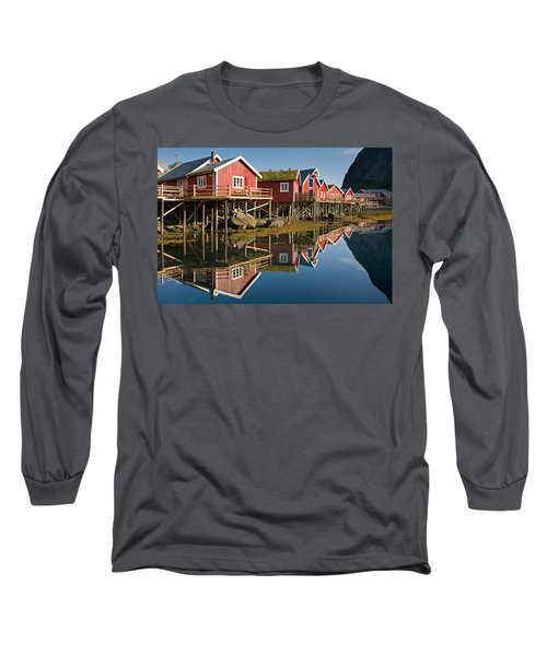 Rorbus With Reflections Long Sleeve T-Shirt by Aivar Mikko