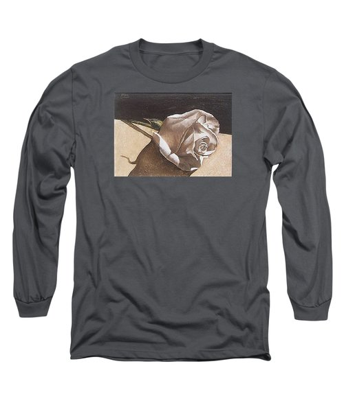 Long Sleeve T-Shirt featuring the painting Rose 1 by Natalia Tejera