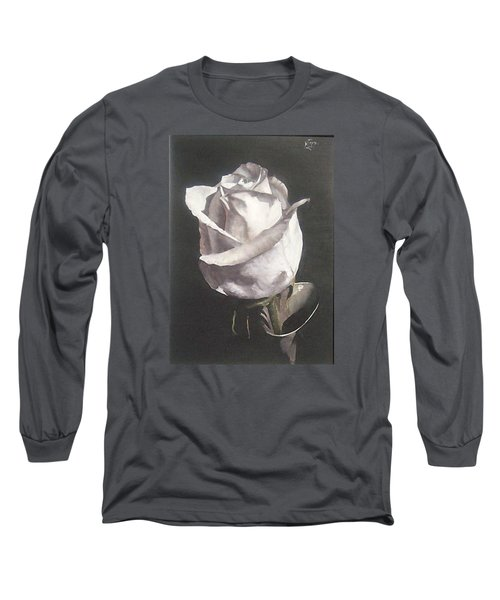 Long Sleeve T-Shirt featuring the painting Rose 2 by Natalia Tejera
