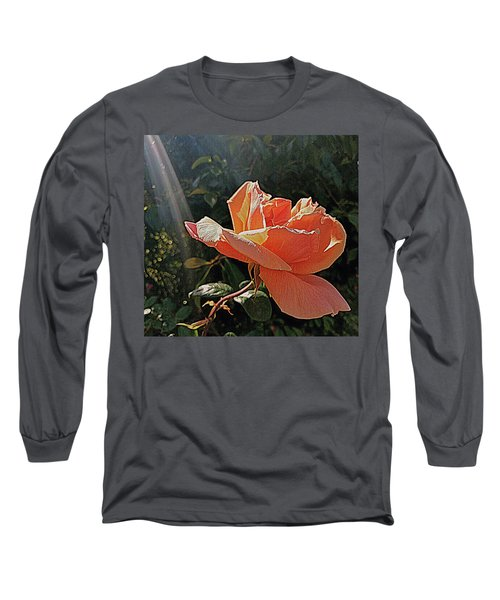 Long Sleeve T-Shirt featuring the photograph Rose And Rays by Suzy Piatt