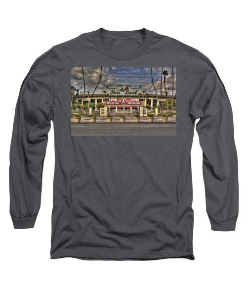 Rose Bowl Hdr Long Sleeve T-Shirt by Richard J Cassato