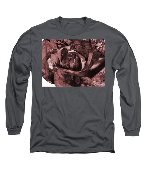Rose No 2 Long Sleeve T-Shirt by David Bridburg