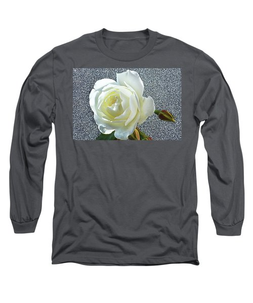 Long Sleeve T-Shirt featuring the photograph Rose With Some Sparkle by Terence Davis