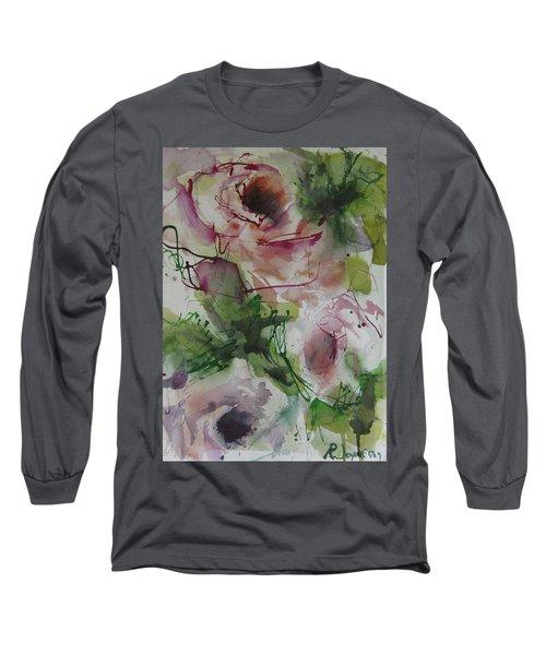 Long Sleeve T-Shirt featuring the painting Rosebuds by Robert Joyner