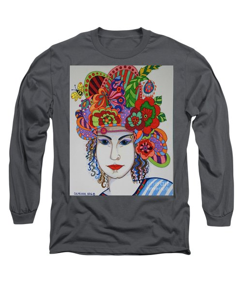 Long Sleeve T-Shirt featuring the painting Rosemary by Alison Caltrider