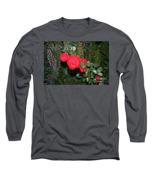 Roses Among Long Sleeve T-Shirt