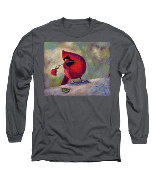 Long Sleeve T-Shirt featuring the painting Roses Are Red And So Am I  by Billie Colson