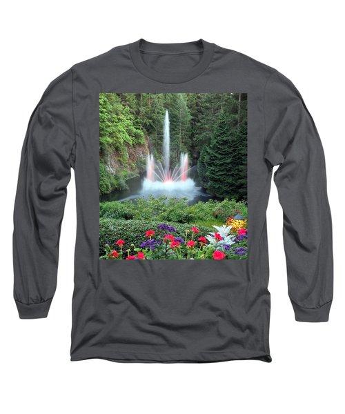Ross Fountain Long Sleeve T-Shirt by Betty Buller Whitehead