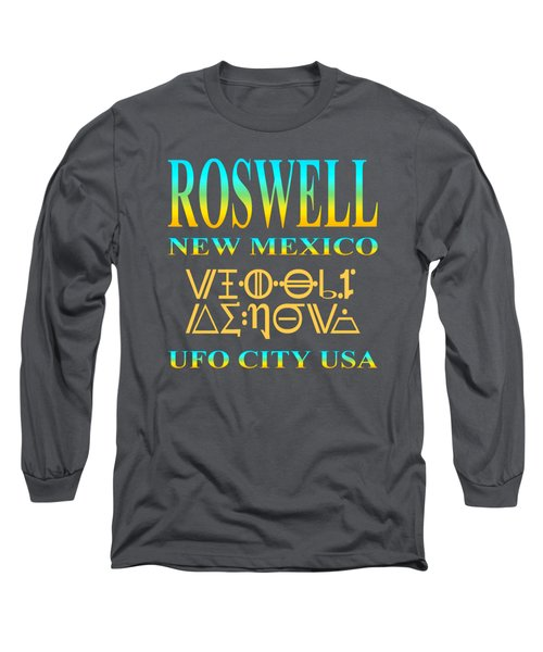 Roswell New Mexico Aliens Design - U. F. O. City U. S. A. Long Sleeve T-Shirt