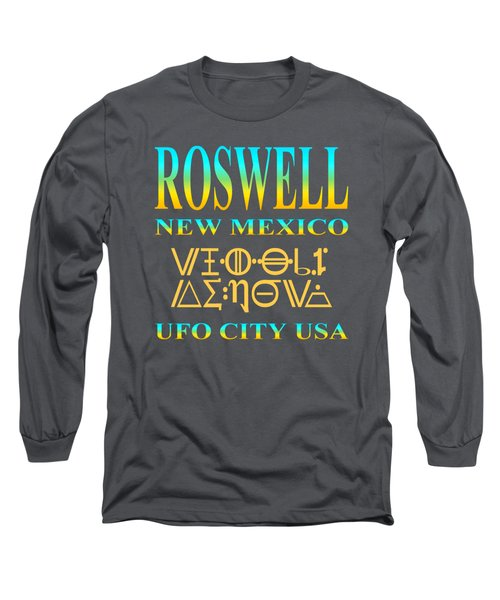Roswell New Mexico Aliens Design - U. F. O. City U. S. A. Long Sleeve T-Shirt