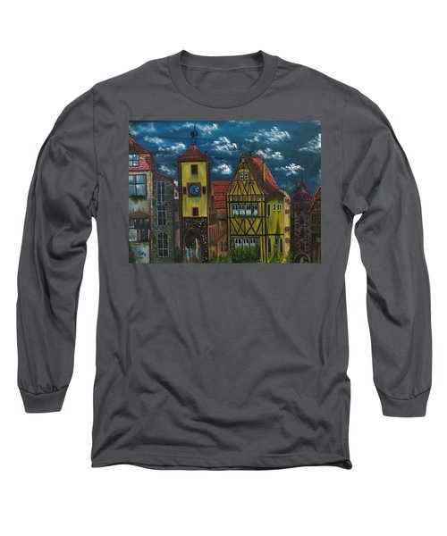 Long Sleeve T-Shirt featuring the painting Rothenburg Ob Der Tauber by The GYPSY And DEBBIE