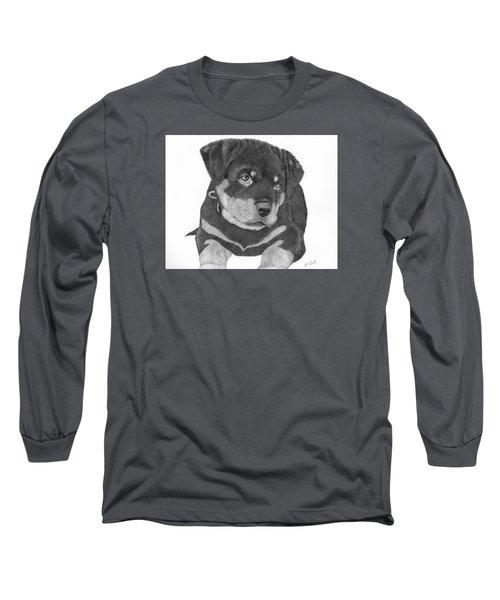 Rottweiler Puppy Long Sleeve T-Shirt by Patricia Hiltz