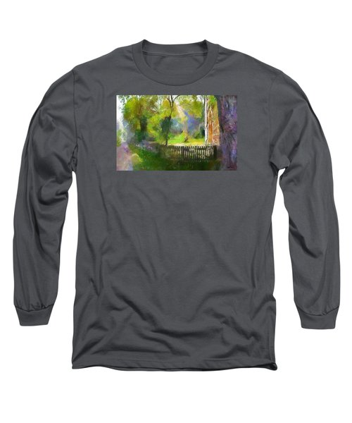 Long Sleeve T-Shirt featuring the painting Around The Cathedral by Wayne Pascall