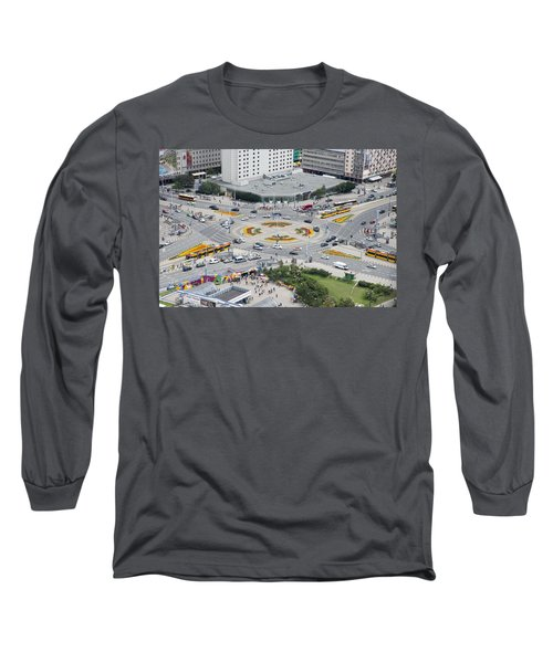 Long Sleeve T-Shirt featuring the photograph Roundabout In Warsaw by Chevy Fleet