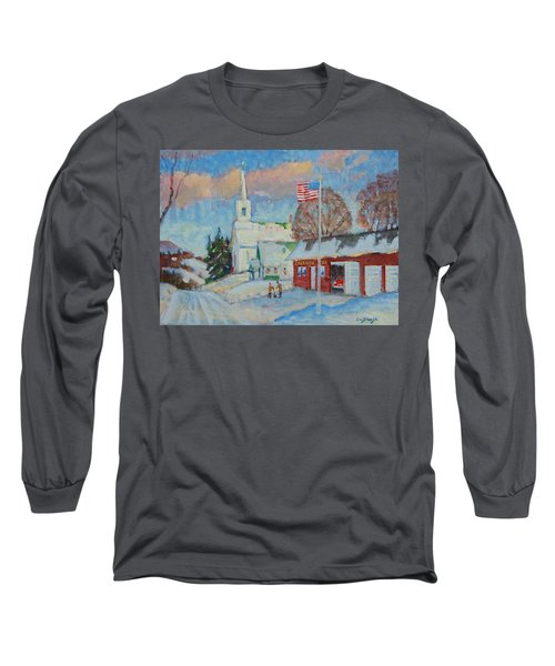 Route 8 North Long Sleeve T-Shirt by Len Stomski