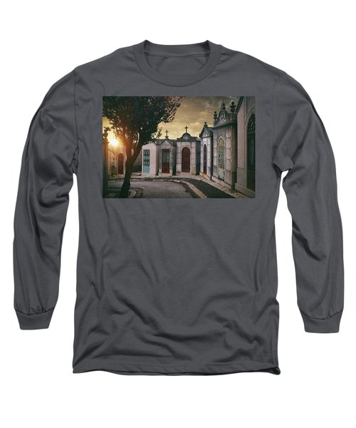 Long Sleeve T-Shirt featuring the photograph Row Of Crypts by Carlos Caetano