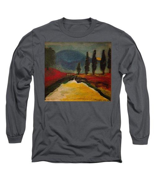 Row Of Cypress Long Sleeve T-Shirt