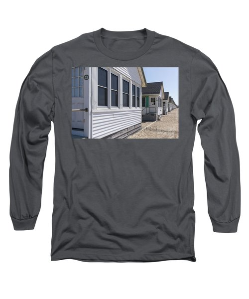Row Of Identical Beach Cottages Long Sleeve T-Shirt