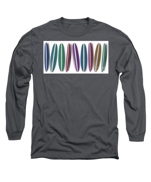 Row Of Surfboards Long Sleeve T-Shirt