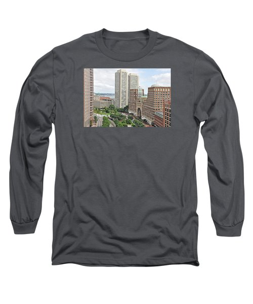 Rowes Wharf Long Sleeve T-Shirt by Joanne Brown