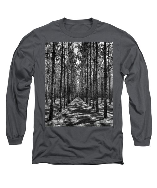 Rows Of Pines Vertical Long Sleeve T-Shirt