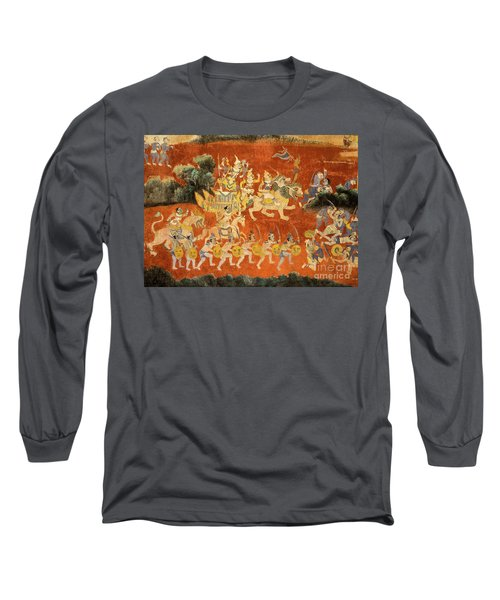 Royal Palace Ramayana 02 Long Sleeve T-Shirt