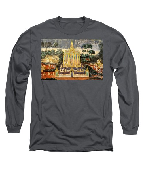Royal Palace Ramayana 04 Long Sleeve T-Shirt