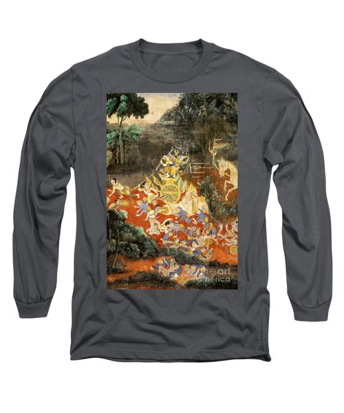 Royal Palace Ramayana 05 Long Sleeve T-Shirt