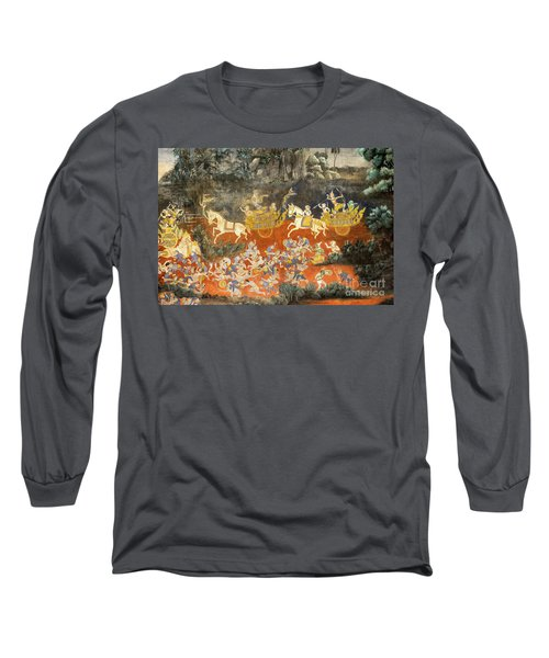 Royal Palace Ramayana 06 Long Sleeve T-Shirt