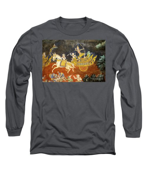 Royal Palace Ramayana 07 Long Sleeve T-Shirt