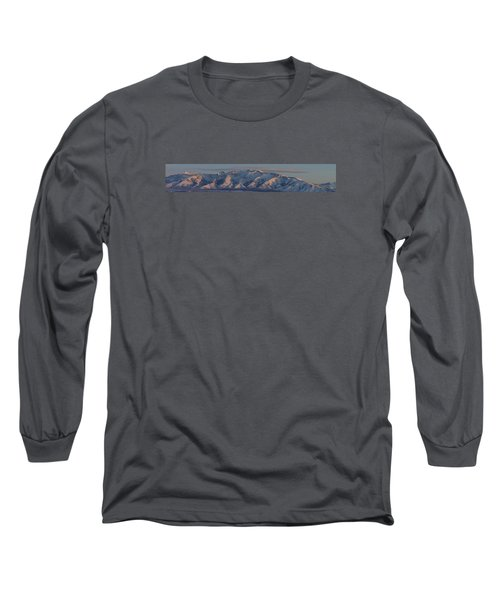 Long Sleeve T-Shirt featuring the photograph Ruby Mountains Panorama by Jenessa Rahn