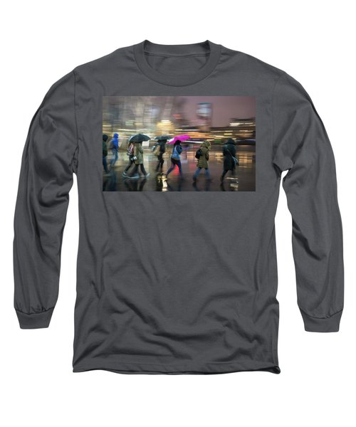 Run Between The Raindrops Long Sleeve T-Shirt