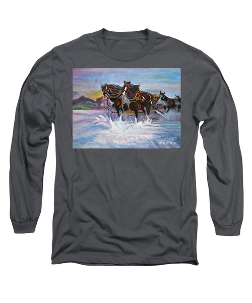 Running Horses- Beach Gallop Long Sleeve T-Shirt