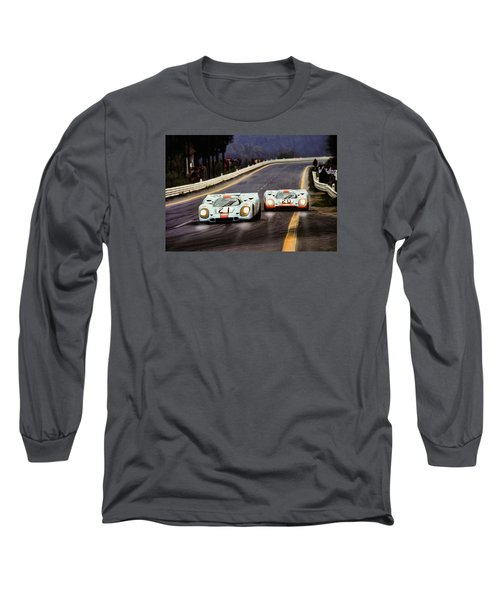 Running One Two Long Sleeve T-Shirt by Peter Chilelli