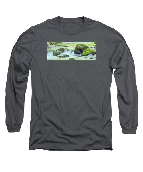 Long Sleeve T-Shirt featuring the photograph Running Water by Wanda Krack
