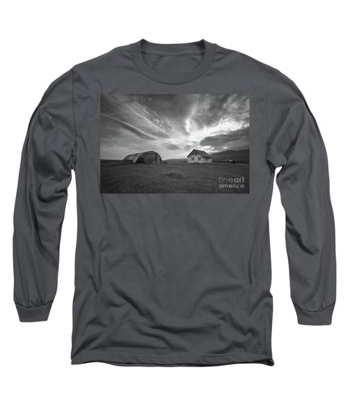 Rural Decay In Iceland Bw Long Sleeve T-Shirt