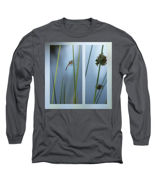 Rushes And Dragonfly Long Sleeve T-Shirt