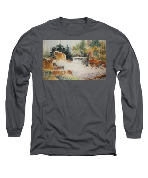 Rushing Streambed Long Sleeve T-Shirt by Al Brown