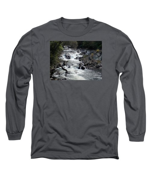 Rushing Water Long Sleeve T-Shirt by Catherine Gagne