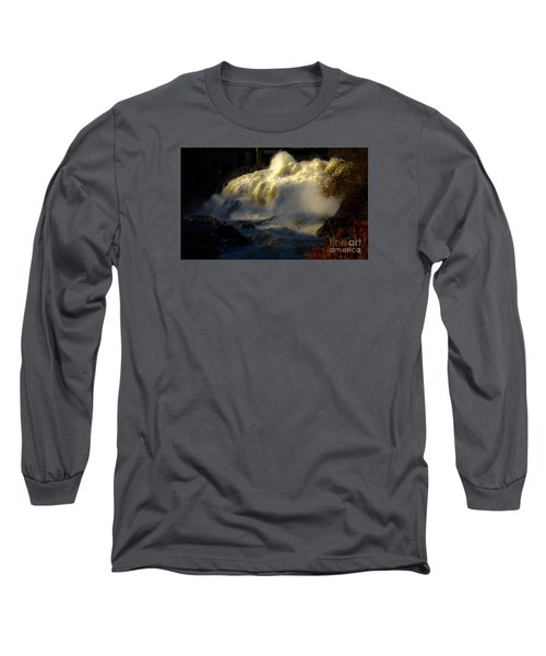 Rushing Water Long Sleeve T-Shirt by Sherman Perry