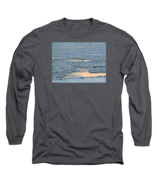 Russian Waterway Frozen Over Long Sleeve T-Shirt by Margaret Brooks