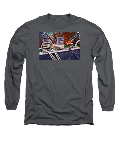 Long Sleeve T-Shirt featuring the photograph Rust And Rope by Cameron Wood