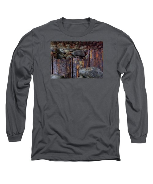 Rusted Stones 3 Long Sleeve T-Shirt by Steve Siri
