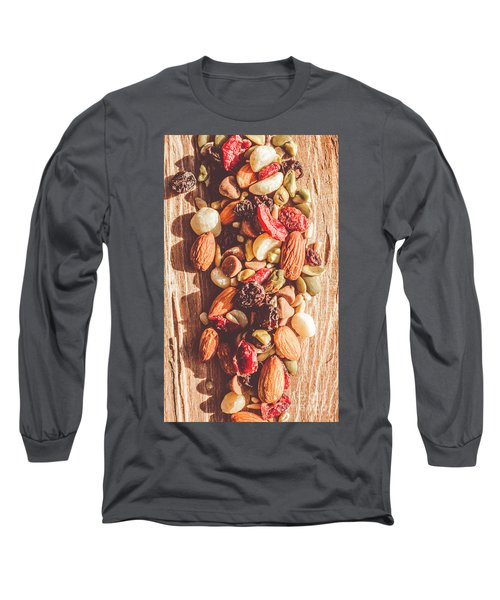 Rustic Dried Fruit And Nut Mix Long Sleeve T-Shirt