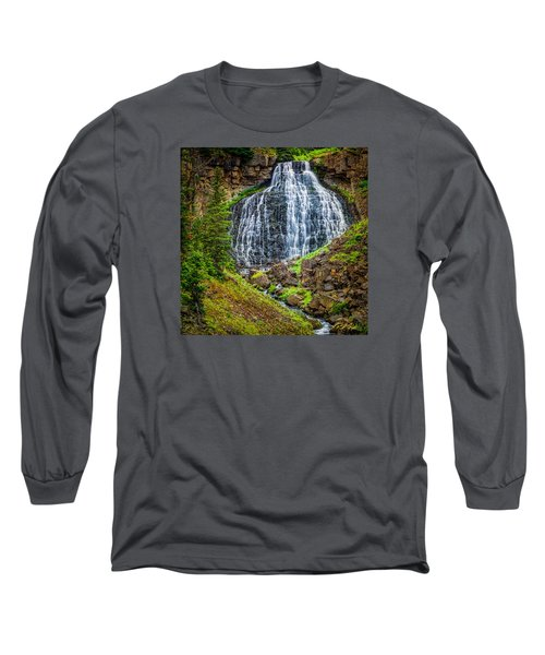 Long Sleeve T-Shirt featuring the photograph Rustic Falls  by Rikk Flohr