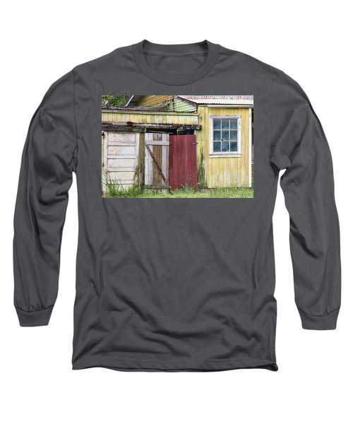 Rustic Shed Panorama Long Sleeve T-Shirt