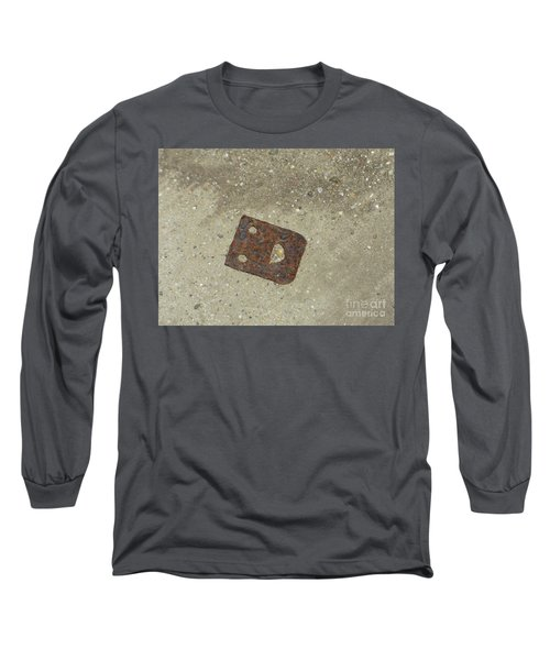 Rusty Metal Hinge Smiley Long Sleeve T-Shirt